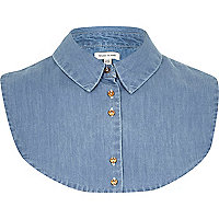 Denim shirt collar bib