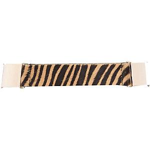 Black faux fur waist belt