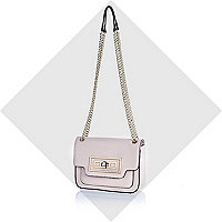 Light pink twist lock mini bag