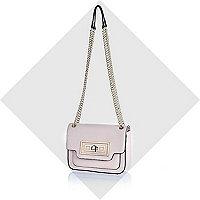 Light pink twist lock mini bag