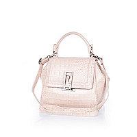 Pink croc mini tote bag
