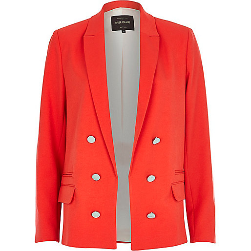 Bright red relaxed fit blazer