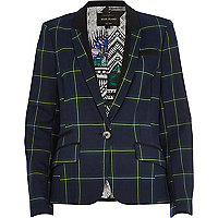 Dark green check blazer