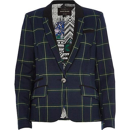 Dark green check blazer