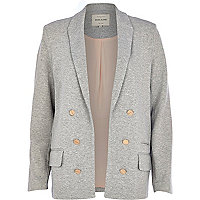 Grey marl relaxed fit blazer