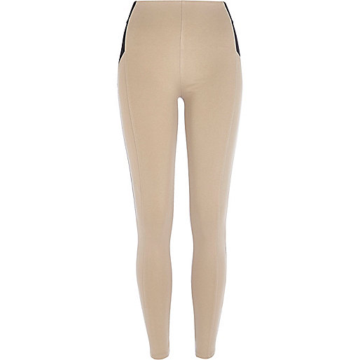 Beige high waisted leggings
