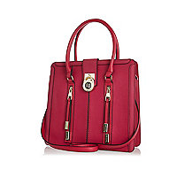 Dark pink RI lock tote bag