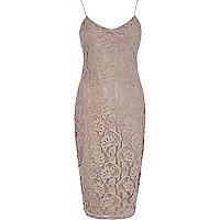 Beige lace cami dress