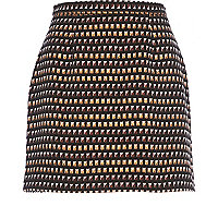 Bronze stud pattern mini skirt