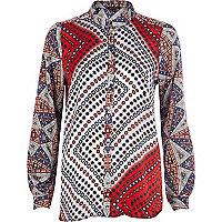 Red foulard print shirt