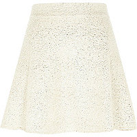 Gold Chelsea Girl shimmer skater skirt