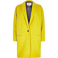 Yellow oversized coat