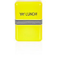 Yellow yay lunch box