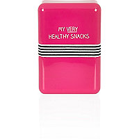 Pink healthy snacks lunch box