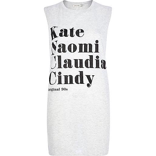 Beige Kate Naomi Claudia Cindy tank top
