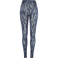 Blue Design Forum abstract print leggings