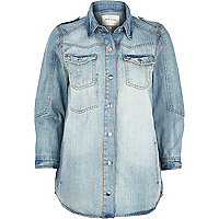 Light wash denim shirt