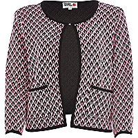 Pink Chelsea Girl zig zag textured jacket