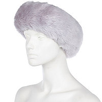 Lilac faux fur head band