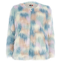 Multi coloured Chelsea Girl faux fur coat