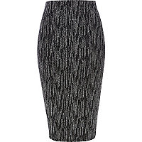 Black sparkle pencil skirt