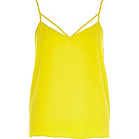 Yellow strappy cami top