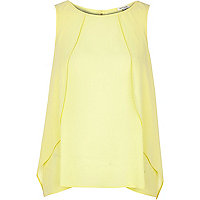 Yellow slit back cape vest