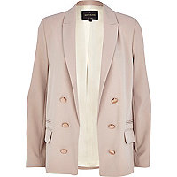 Beige relaxed fit lightweight blazer