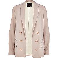Beige relaxed fit lightweight blazer