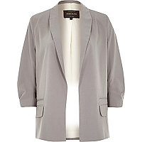 Grey relaxed fit blazer