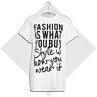 White fashion is what you buy t-shirt