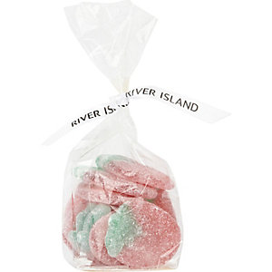 Giant fizzy strawberry sweets
