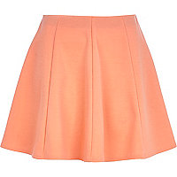 Light orange skater skirt