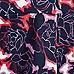 Purple floral print flute hem mini skirt