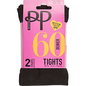 Black Pretty Polly 60 denier opaque tights