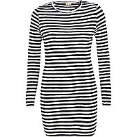 Navy stripe ribbed tunic