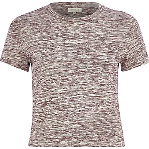 Red marl crop t-shirt