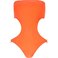 Orange Pacha bandeau swimsuit