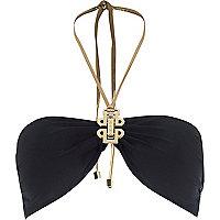 Black Pacha bandeau bikini top
