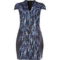 Blue Design Forum abstract print cocoon dress