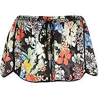 Black Pacha floral print shorts
