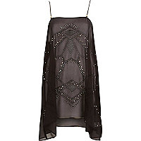 Black Pacha stud handkerchief dress