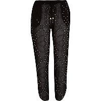 Black Pacha stud trousers