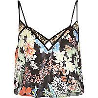 Black Pacha floral print bandeau swimsuit