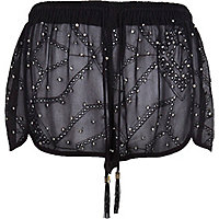 Black Pacha stud broderie shorts