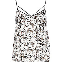 White spot print strappy cami top