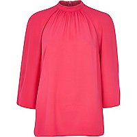 Pink Chelsea Girl turtle neck blouse