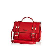 Red large satchel bag