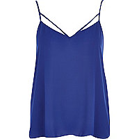 Blue strappy cami top