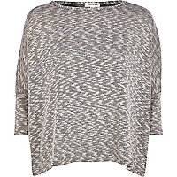 Grey marl slouchy top
